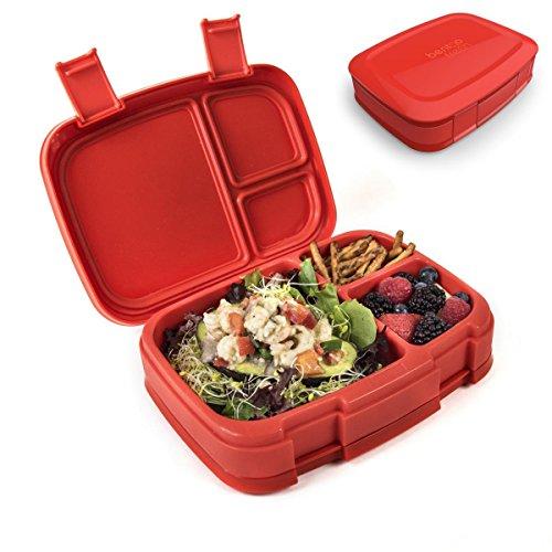 Bentgo Fresh - Auslaufsichere Lunchbox | Bento Box mit 4 Unterteilungen, Rot Große Bento-box