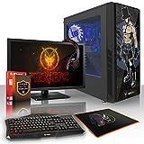 Fierce ZOMBIE RGB Gaming PC Bundeln - Schnell 4 x 3.8GHz Quad-Core AMD Athlon X4 950, 1TB Festplatte, 8GB von 2400MHz DDR4 RAM / Speicher, NVIDIA GeForce GTX 1050 Ti 4GB, ASUS AM4 PRIME A320M-K Hauptplatine, CiT Dark Star RGB Computergehäuse, HDMI, USB3, Wi - Fi, Perfekt für Wettkampfspiele, Windows nicht Enthalten, Tastatur (VK/QWERTY), Maus, 24-Zoll-Monitor, Headset, 3 Jahre Garantie 887159