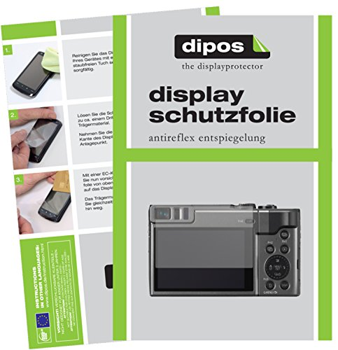 dipos I 6X Schutzfolie matt passend für Panasonic Lumix DMC-TZ91 Folie Displayschutzfolie