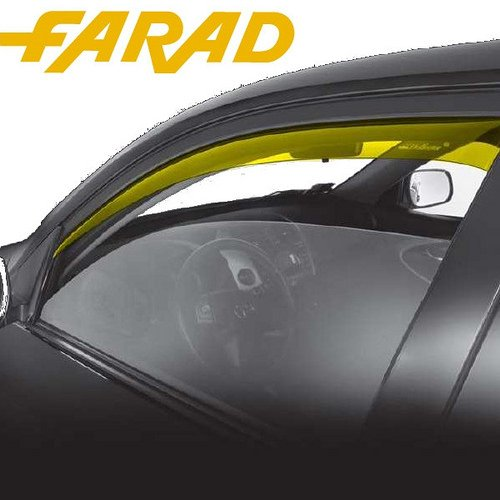 12279 Set Déflecteurs d'air Farad Déflecteurs Coupe-Vent Avant Renault Megane 4P 96 > 02 spécifiques Anti Pluie Vent