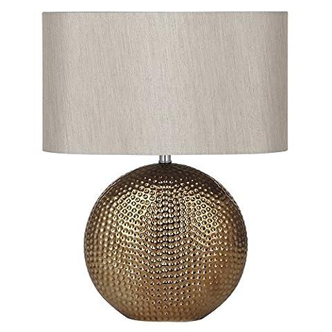 Sabina Bronze Ceramic Table Lamp Complete