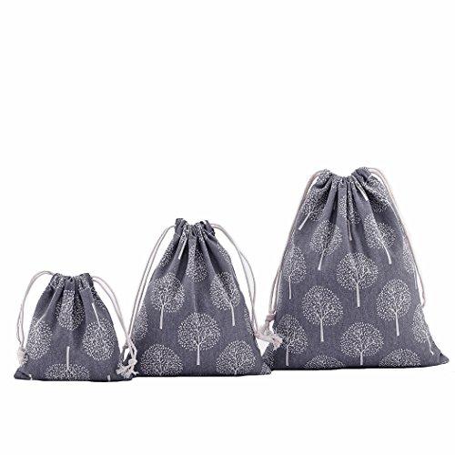 3 unidades bolsas algodón con cuerda organizadore para bebé ropa jug
