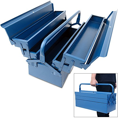 Stahl Werkzeugkoffer Leer,Werkzeugkoffer Werkzeugbox Werkzeugkiste Werkzeug Montage Koffer,580x220x210mm