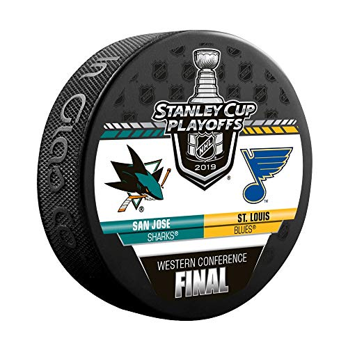 Inglasco 2019 NHL Conference Final Dueling Souvenir Puck: Blues vs Sharks