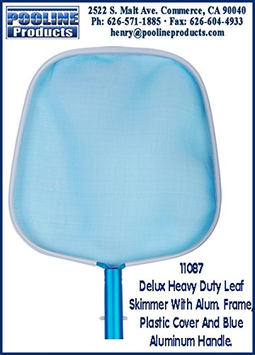 Deluxe Leaf Rake (pooline Produkte 11087Deluxe Heavy Duty Leaf Skimmer mit Aluminium Rahmen, inkl. Plastik und Blau Aluminium Griff)