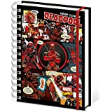 Deadpool - Here Comes Deadpool, Marvel Comics Bloc De Notas Libreta De Espiral (21 x 15cm)