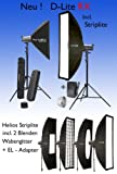 Premium Set D-Lite RX 4/4 mit Softbox Striplite 120 x 30, Elinchrom Softbox Portalite 66 x 66 und Skyport RX Funkauslösesystem