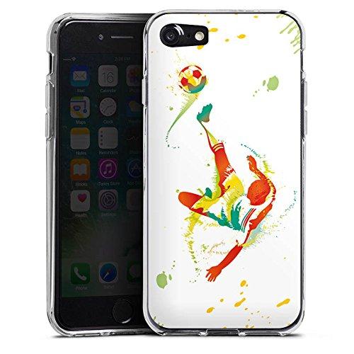 Apple iPhone X Silikon Hülle Case Schutzhülle Fußball Sport Torschuß Silikon Case transparent