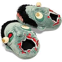 Wuiyepo 1Pair felpas Zombie zapatillas de casa caliente de interesante de zapatos