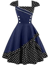 Valin M1398 Damen Rockabilly 50er Vintage Retro Kleid Partykleider Cocktailkleider