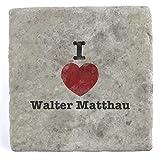 I Love Walter Matthau - Marble Tile Drink Coaster