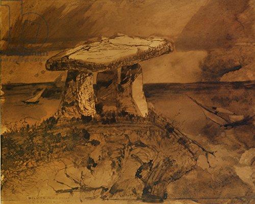 alu-dibond-bild-130-x-100-cm-dolmen-ou-ma-parle-la-bouche-dombre-pen-ink-and-wash-on-paper-bild-auf-