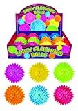 Flashing Spikey Ball 7.5 cm great for Kids Birthday party bag fillers, Stocking Fillers, Loot Bags, Carnival, Fairs, School Etc.