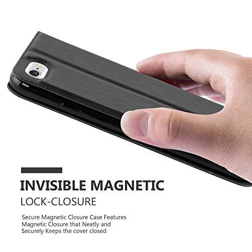 Cadorabo - Etui Housse pour Apple iPhone 6 / 6S avec stand horizontale, Fermeture Magnétique Invisible et 2 Fenêtres de Visualisation dans Désign View