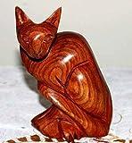 Afrika Art Decoration–Katze braun chm1