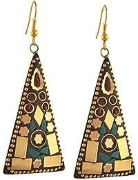 Zephyrr Jewellery Lightweight Tibetan Hook Dangler Earrings for Women and Girls