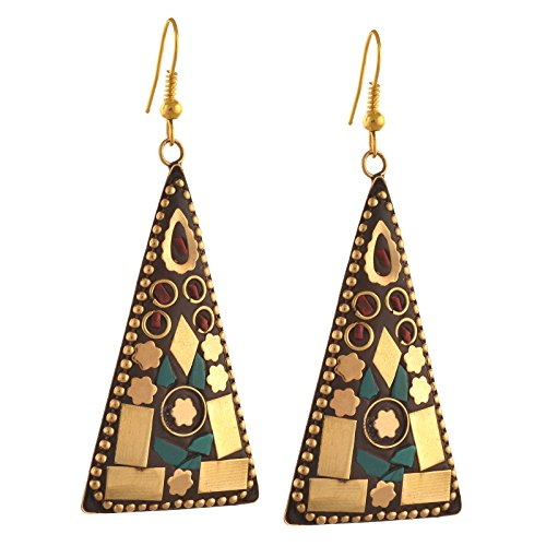Zephyrr Jewellery Tibetan Hook Dangler Earrings for Women & Girls