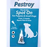 BOB MARTIN FLEA DROPS PESTROY SMALL DOG AND PUPPIES 12 WEEKS