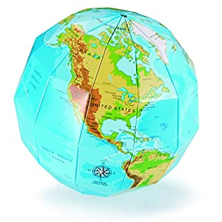 ACEVER Educational Toy National Geographic World Map DIY Paper Globe