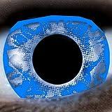 Blau / Splash 12-Monatslinsen UV Linsen Crazy Kontaktlinsen Leuchten im Schwarzlicht!