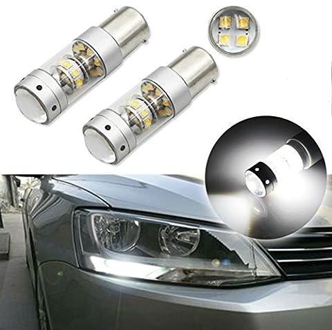 FEZZ Auto LED Ampoules S25 BA15S 1156 2828 28SMD 140W 1200LM CANBUS DRL Feux de Jour