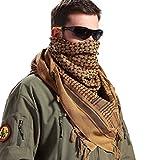 Free Soldier - Sciarpa avvolgente 100% cotone, Shemagh militare, sciarpa tattica araba Keffiyeh ideale per i militari nel deserto, adatta per uomini e donne, Brown
