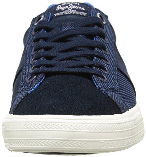 Pepe Jeans London Coast, Sneaker Uomo Blu (bleu (585 Marine))