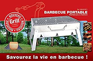 Lavi BBQPORT Barbecue Portable Charbon de Bois