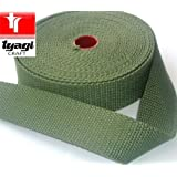 38mm Cotton Canvas Webbing Strap Tape Bottle Green