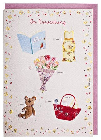 Glückwunschkarte Schwangerschaft Herzlichen Glückwunsch