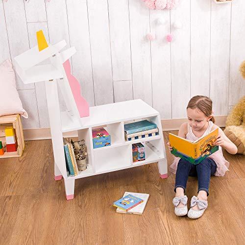 Teamson Kids TDF-00002 Unicorn Bücherregal für Kinder, White/Pink
