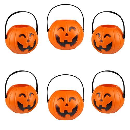 KESOTO Halloween Kürbis Eimer, 6 Stück Süßigkeiten Eimer Halloween Party Deko