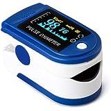 AZEADA Pulsossimetro da Dito, Saturimetro da Dito Portatile Professionale con Display LCD per Frequenza del Polso(PR) e La sa