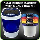 Bubble Tasche Maschine 5Gallonen–5Bag mischen Kit–5Gallonen Tragbarer Mini Waschen–Gewinnung System für Herbal Essence–mit 220Mikron Tasche mit Reißverschluss, und drücken Bildschirm und Aufbewahrungstasche von bubblebagdude