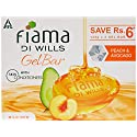 Fiama Di Wills Gel Bathing Bar, Peach and Avocado, (3 * 125g)