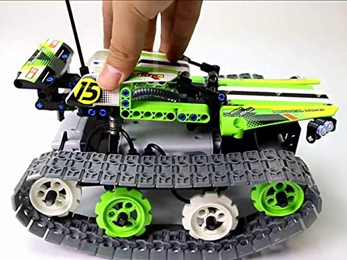Modbrix Qihui 2,4 Ghz Technik Tracked Crawler RC Buggy Ferngesteuertes Auto, 353 teiliger Bausatz