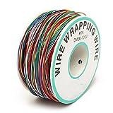 Avvolgimento del cavo di prova, ELEGIANT Wrapping Test Cavo di filo di rame avvolgimento del filo avvolgicavo cavo Rotolo P/N B 30–1000200m 30AWG 8Wire colorato