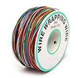 Wrapping Test Kabel, ELEGIANT Wrapping Test-Kabel Kupferdraht Wickeldraht Kabeltrommel Kabelrolle P/N B-30-1000 200M 30AWG 8-Wire farbig