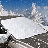 Windschutzscheibe Abdeckung 148*118, Bambud Verdickt Sonnenschutz Auto UV-Schutz, Frontscheibenabdeckung, Magnetisch Auto Windschutzscheibe, Autoscheibenabdeckung, Sonnenschutz Scheibenabdeckung