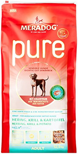 Mera Dog Hundefutter Pure Hering & Krill, getreidefrei, 12.5 kg, 1er Pack (1 x 12.5 kg)