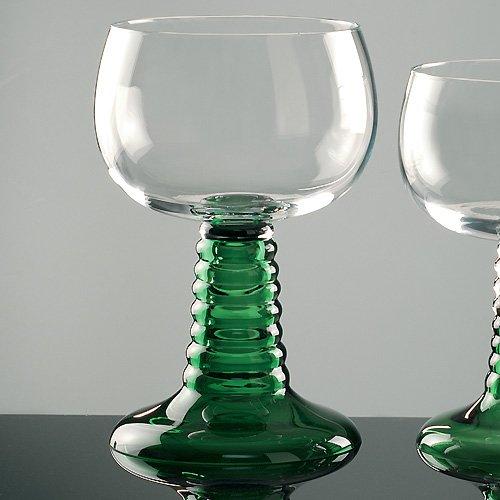 Großer Weinrömer mit grünem Fuß 3 Liter