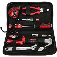 Cassetta degli attrezzi Juego de herramientas para el hogar Juego multifunción Juego de herramientas de hardware de 19 piezas