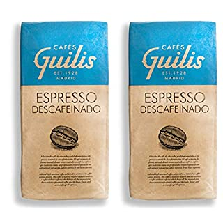 CAFES GUILIS DESDE 1928 AMANTES DEL CAFÉ-kaffeebohnen Entkoffeiniert Arabica 2 kg