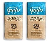 CAFES GUILIS DESDE 1928 AMANTES DEL CAFE - Café en Grain Entiers Décaféiné Arabica De Torréfaction Naturelle 2 kg