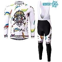Thriller Rider Sports® Hombre INDIAN Ciclismo Invierno Térmico Calentar Chaqueta y Pantalones Traje X-Large