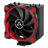 ARCTIC Freezer 33 eSport One - Ventilateur processeur I Refroidisseur de processeur 200 - 1800 RPM avec 120 mm PWM I Radiateur multicompatible pour processeur de 320W Intel e AMD I Installation Facile et Silencieux - Rouge