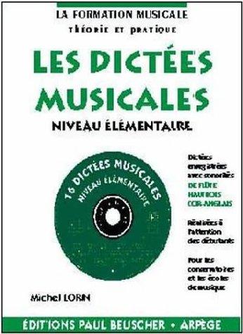 Partition : Dictees musicales avec CD, niveau elementaire