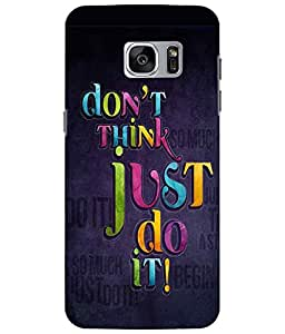 Case Cover Slogan Printed Multicolor Soft Back Cover For Samsung Galaxy S7 EDGE