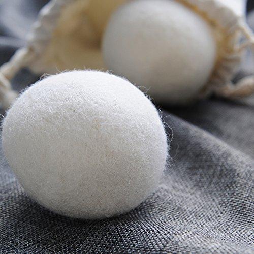 confronta il prezzo GWHOLE Set di 6 Pallina di Lana per Asciugatrice, Funzione Ammorbidente, Naturale e Riutilizzabile miglior prezzo