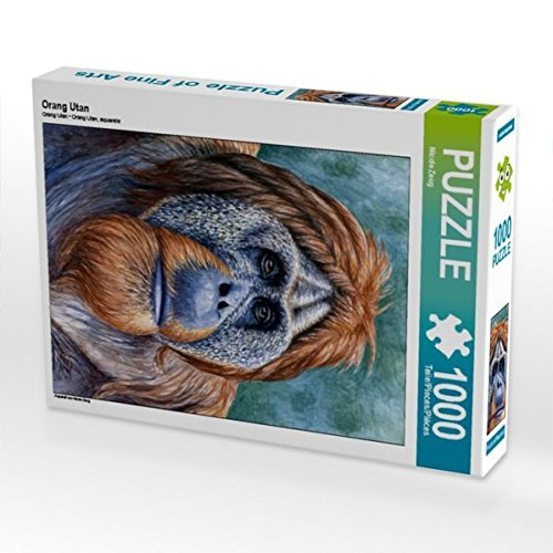 Orang Utan 1000 Teile Puzzle hoch: Aquarell von Nicole Zeug (CALVENDO Kunst) -